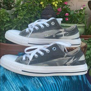 Black & Gray Ombré Tie Dye Converse Sz 8